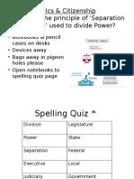 c c separation of powers lesson 2