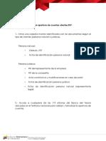 Pasos Para Formalizar Apertura de Cuentas Clientes BIV