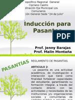 INDUCCION DE PASANTIAS UBV