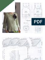 blusas crochet patrones