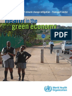 Health in the Green Economy - Transport Sector