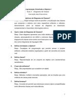 POO1 - Aula 4 - Diagrama de Classes - Correção