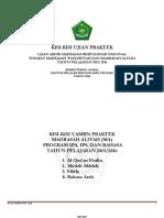Kisi-Kisi UAMBN Praktek MTs & MA 2015-2016