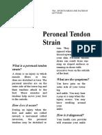 Pts (Peroneal Tendon Strain)