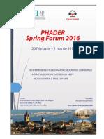 Program Spring Forum 2016