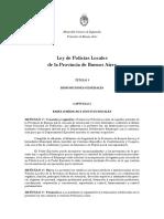 Hcd Pba Ley de Policias Locales en Pba 2014