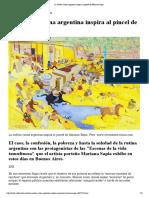 pintura sudamericana La caótica rutina argentina inspira al pincel de Mariano Sapia