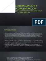 Descentralización y Desconcentración