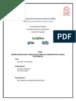 Diseño Estructural y Modelaje de Lineas de Transporte de Fluidos Geotermicos