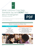 What Common Core State Standards Say (and DON'T Say) About Kindergarten