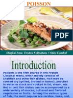 Poisson Course in French Classical Menu