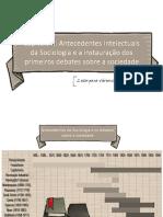 Apresentação 1.02 Antecedentes intelectuais da Sociologia e a instauração dos primeiros debates sobre a sociedade.pptx