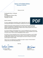 Letter Requesting Independent Oversight At The Phoenix VA