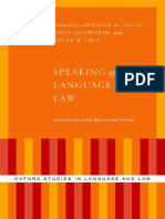 Lawrence Solan, Janet Ainsworth, Roger W. Shuy - Speaking of Language and Law_ Conversations on the Work of Peter Tiersma