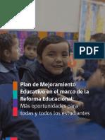 Plan de Mejoramiento Educativo 2016 en El Marco de La Reforma