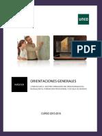 Prácticum II. Orientaciones Generales 2015-2016