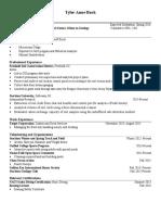 tyler-anne buck resume