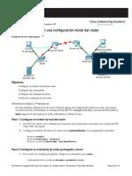 Cómo Realizar Una Configuración Inicial Del Router