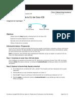 Exploración de La CLI de Cisco IOS