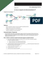Implementación de Un Esquema de Direccionamiento IP