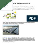 Energ?a Solar en casa