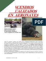Incendios Localizados en Aeronaves (2ª Parte)