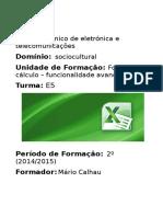 Manual-folha de Cálculo