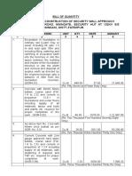 Bill of Quantity-binadki Fatehpur