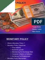 Pakistan Monetary Policy 2009