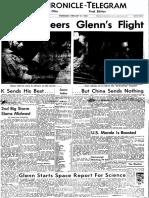 John Glenn front page