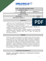Ementa - História Do Brasil II - Rodrigo Teixeira - Final