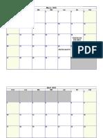 Calendario para rellenar 2016