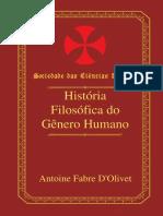 Fabre Olivet - História Filosófica Do Gênero Humano