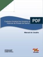 Manual Operacional Do Cadastro de Usuários de Águas de SC_1ª_Edição