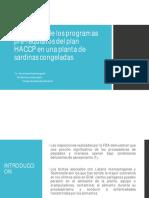 Evaluación de Los Programas Pre Requisitos Del Plan HACCP