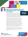 1.3.1 Major Federal Child Welfare Legislation