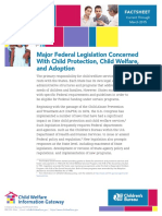 1.3.1 Major Federal Child Welfare Legislation