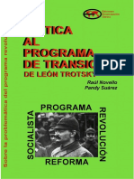 Critica Al Programa de Transicion de Trotsky