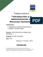 Introduccion a La Administracion de Recursos Humanos.