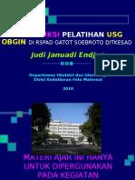 Intensif USG 10 1. Introduksi Pelatihan USG OBGIN RSPAD 20100301