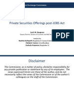 Private Securities Offerings Post Jobs Act Bauguess 022516