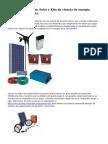 Fourier renueva con Solar y Kits de ciencia de energ?a renovable del viento