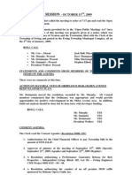 2009-10-13 Regular Council Meeting Minutes