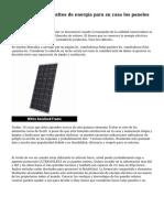 Averiguar los requisitos de energ?a para su casa los paneles solares