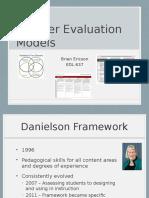 edl 637 teacher evaluation models