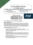 City Council Agenda Special Meeting 02-29-16