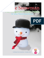 English Snowman Sayjai Free Pattern