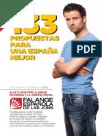 133 Propuestas FE JONS 2011