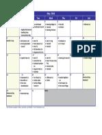 May 16 Calendar