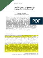 Perspectivas Teóricas e Historicas Das Politicas Linguisticas